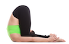 Yoga Karnapidasana Pose, Yoga Rabbit Pose, Yoga Ear Pressure Pose