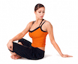 Simple Twist Pose, Parivrtta Sukhasana